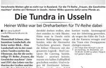 Tundra in Usseln - Heiner Wilke bei TV Aufzeichnungen