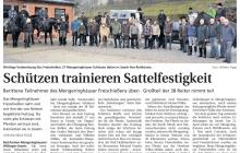 Schützen trainieren Sattelfestigkeit | Quelle: WLZ vom 19.03.2014