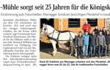 Wilke-Mühle sorgt seit 25 Jahren für Königskutsche