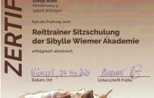 Zertifikat Reittrainerin Sitzschulung