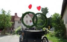 geschmückte Hochzeitskutsche