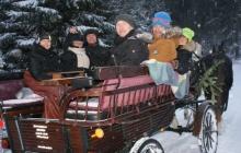 Jagdwagentour im Winter